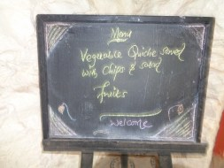 Menu for the day at Castle Forest Lodge Copyright Rupi Mangat