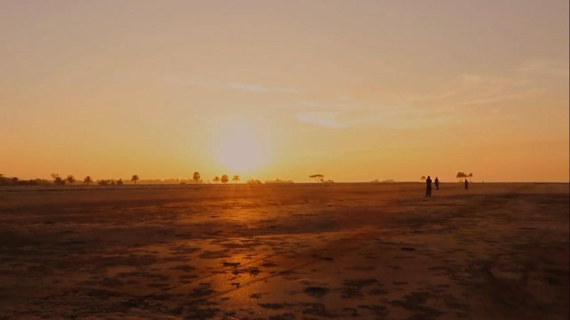 Sea during sun set at Nijhum Dip