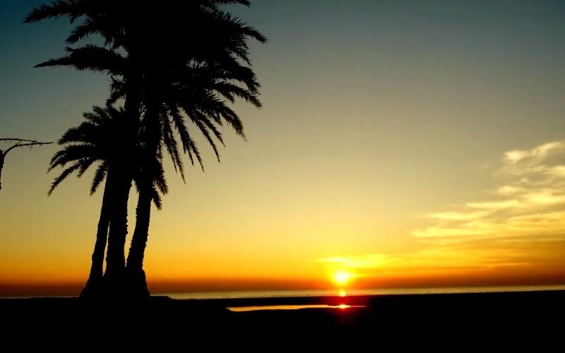 Sun set in Nijhum Dip