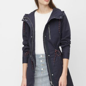 MARC O POLO DENIM Parka aus Washed-Cotton-Qualität