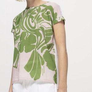 Patch-Shirt mit Ginkgo-Print von Luisa Cerano erhältlich bei RUPP Moden.