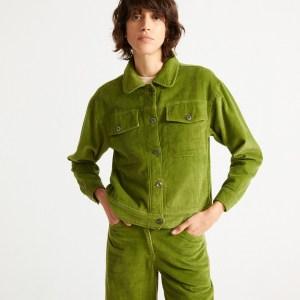 Green Cord Jacket von Thinking Mu bei RUPP Moden