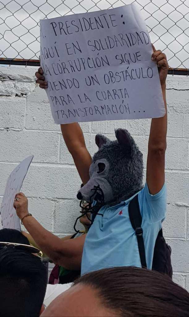 Protesta del activista Antonio Ramos