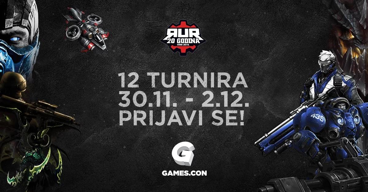 RUR organizuje 12 turnira tokom Games.con 2018