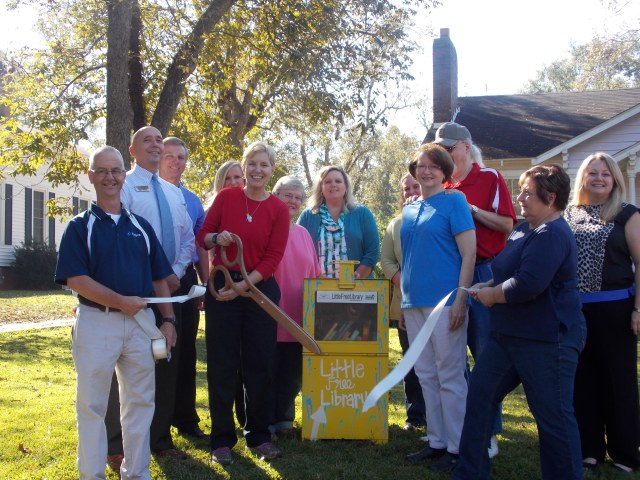 Little Free Library Ribbon Cutting, October 27, 2014    W. Church Street, Sandersville, Georgia
