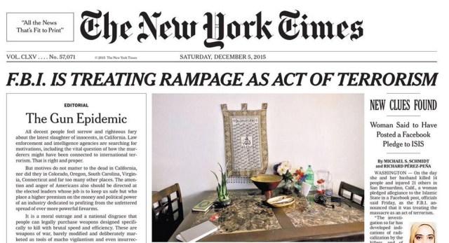 New York Times, December 5, 2015