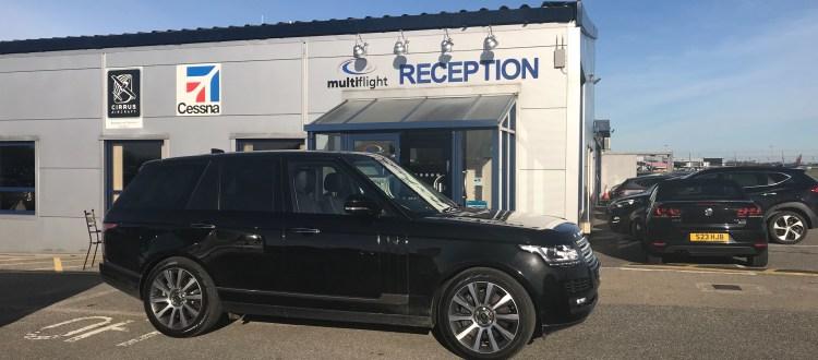 Range Rover at Leeds Bradford Airport