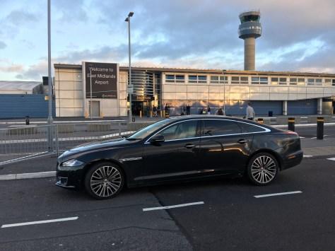 Jaguar XJL at East Midlnds Airport