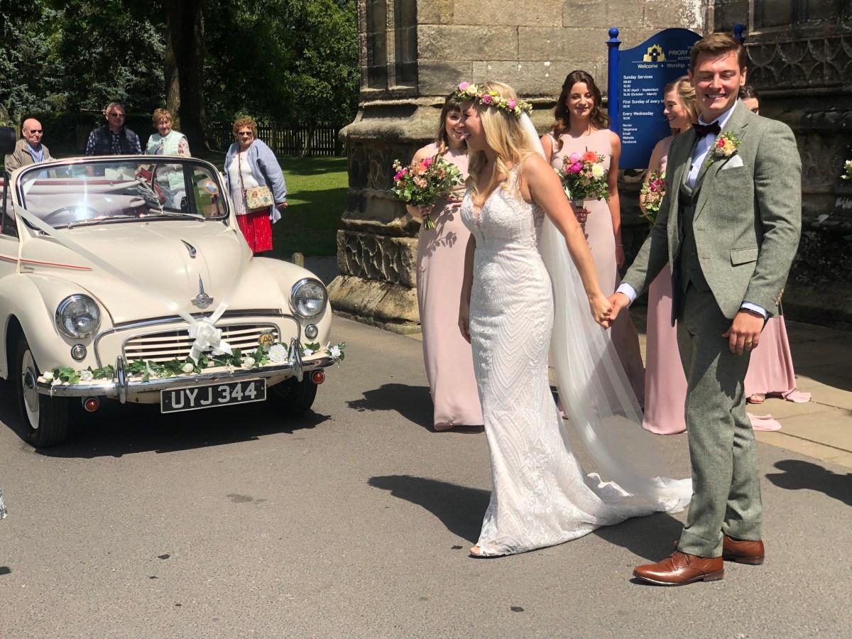 Wedding Car at Bolton Abbey