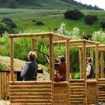 Clay Shooting Line of Stands