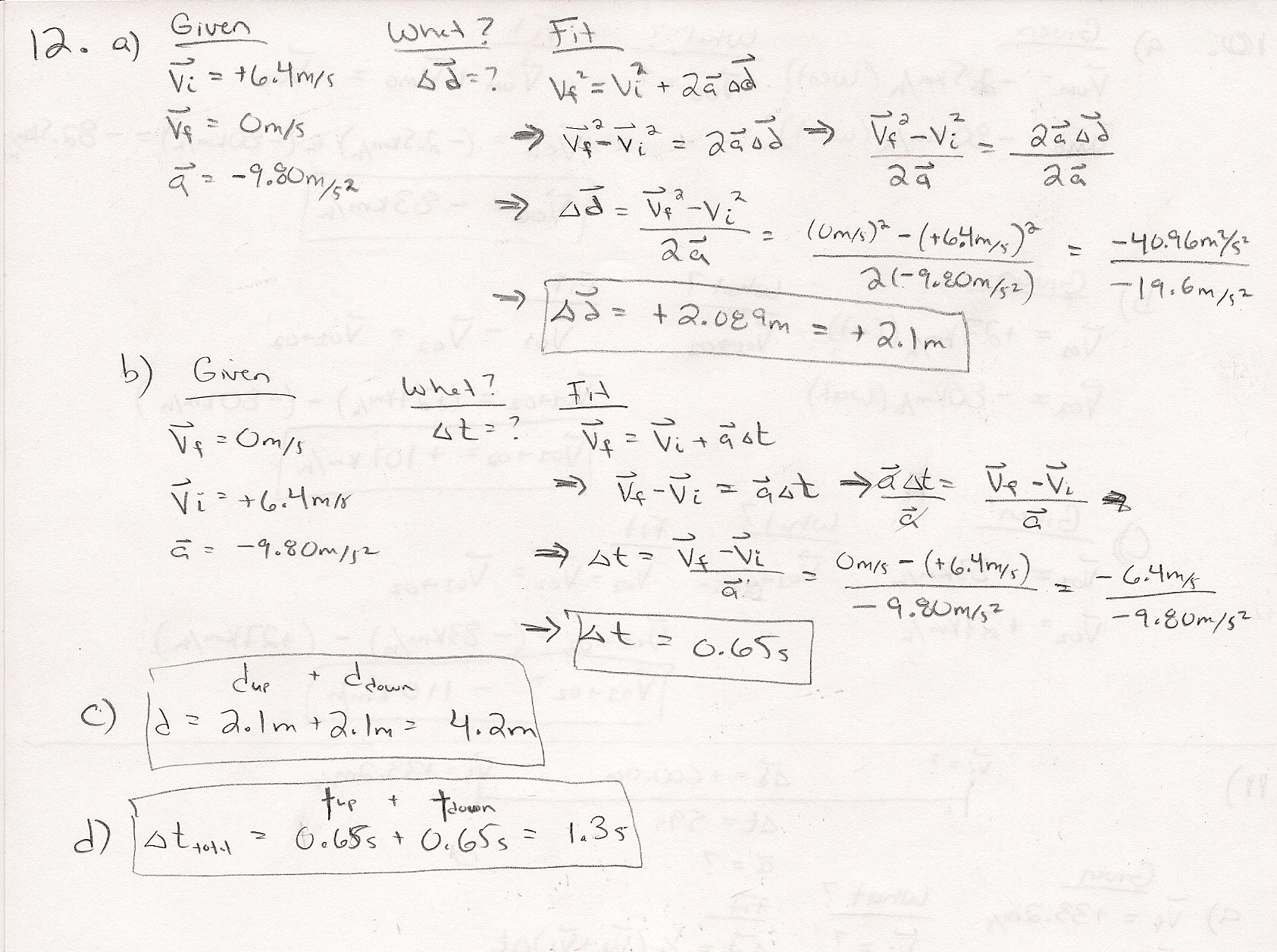 Physics Algebra Review Worksheet High School Physics