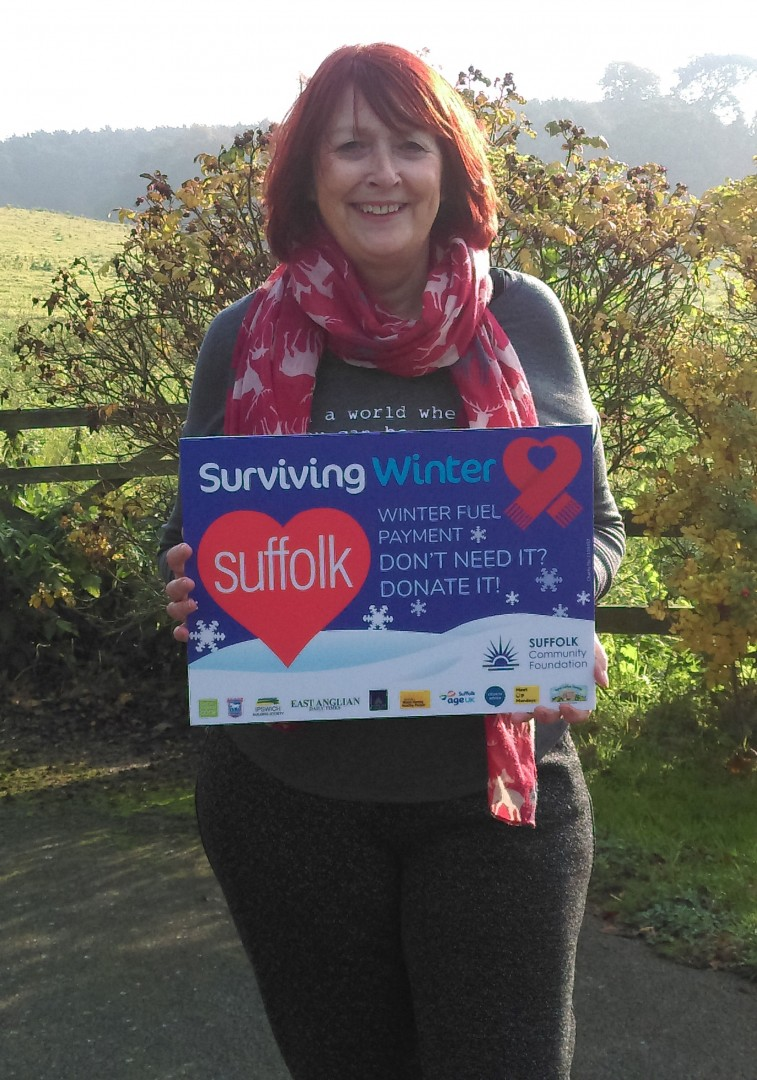 Ann Osborn from Rural Coffee Caravan showing support for SCF's Surviving Winter Appeal 2018