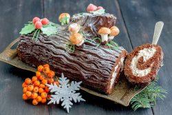 Tronco de Natal com Nutella