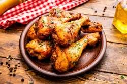 Pernas de frango no forno estaladiças