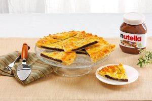 Tarte de massa folhada com Nutella