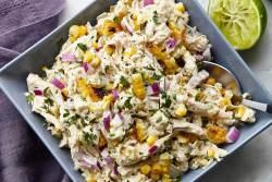 Salada de frango com milho