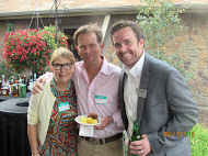 Angel Investor Liz Marchi with friends at the Networking reception in 2015