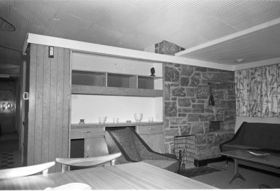 RDS model home, sitting room, 7 May 1960