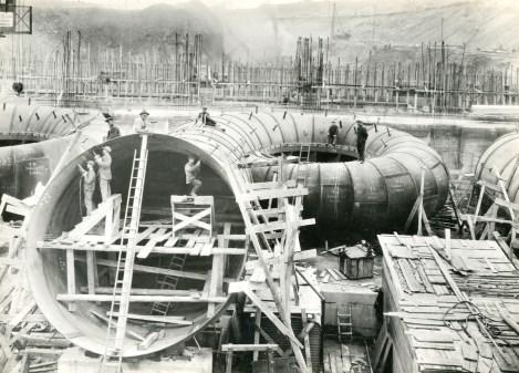 Working on the penstocks 1928