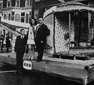1970, ESB Rose of Tralee float, Shelbourne Hotel, Dublin
