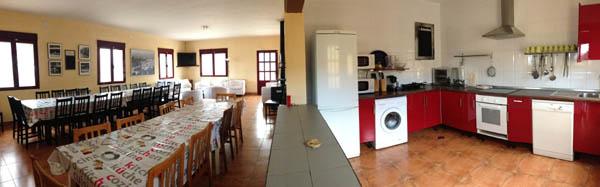 Salón cocina de Finca Montespliego
