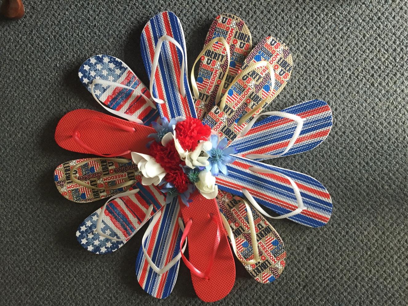 b77736918aae Patriotic Flip Flop Wreath - Her Rural Highness