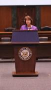 NRHC President Karen Speakman giving opening remarks at the Self-Help Housing Program Briefing.