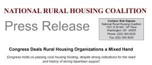 Congress Deals Rural Housing Organizations a Mixed Hand