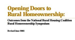 Opening Doors to Rural Homeownership (2003)