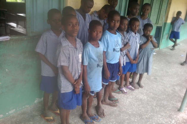 students of Amakom primary school