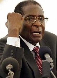 African Union leader Robert Mugabe