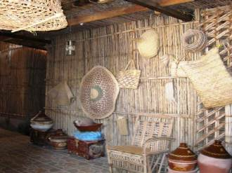Items made out of straw.