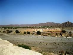 View of Izki from the Nazar village ruins.