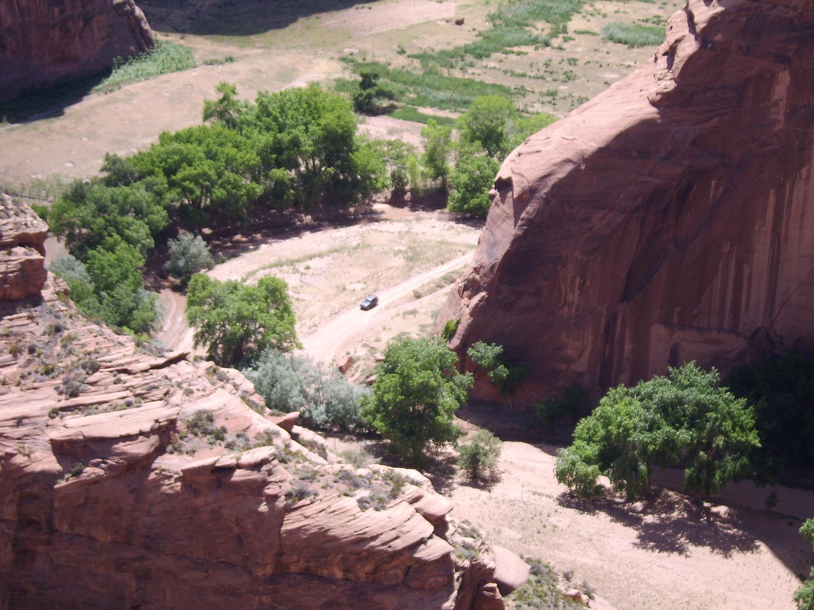 Canyon de Chelly, where de Navajo farm