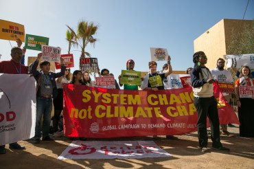 members-of-civil-society-advocate-for-the-elimination-of-the-use-of-fossil-fuels