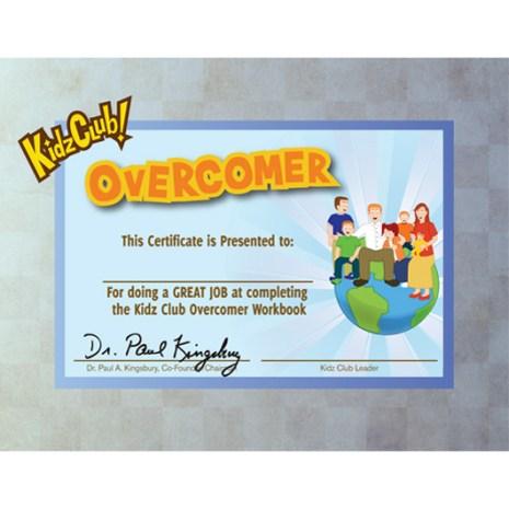 Kidz Overcomer Certificate