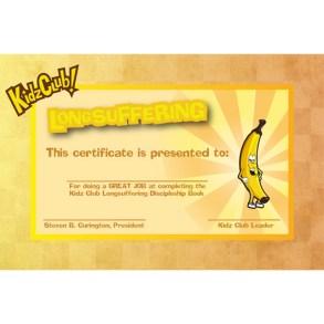 Kidz Longsuffering Certificate