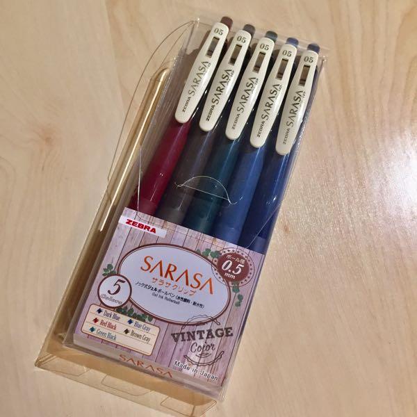 サラサクリップ ビンテージカラー5色セット