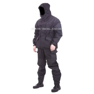 Russian Gorka-3 Black with nylon Black pads on sale