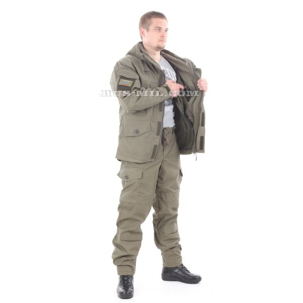 Bars Gorka-5 suit in Olive with fleece removable lining