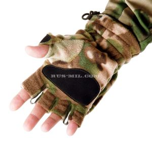 Gloves-mittens Keotica fleece in color Multicam