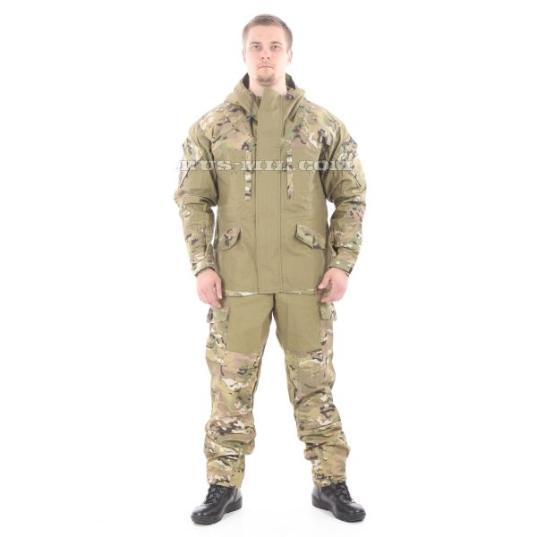Gorka-5 suit khaki with fleece removable lining, multicam Bars