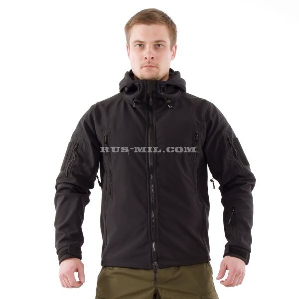 Jacket from the membrane Softshell color Black