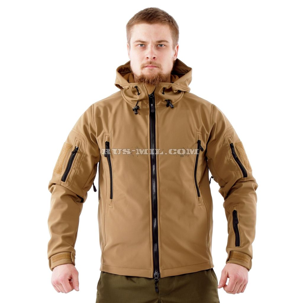 Jacket from the membrane Softshell color Coyote