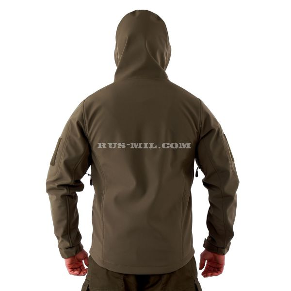 Russian Jacket from the membrane Softshell color Olive