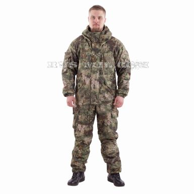 membrane fleece lined Gorka Active suit in mandrake