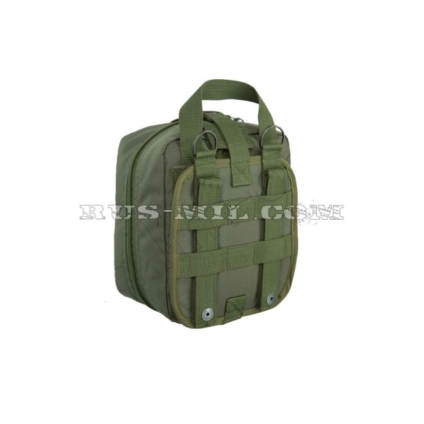 First-aid molle big pouch olive back