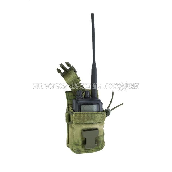 PRS 2 molle radio pouch moss open