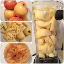 Яблочное пюре из сырых яблок с корицей