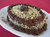 Шоколадный торт с кремом из авокадо
